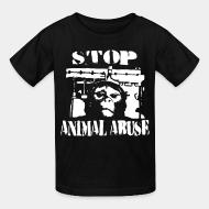Children t-shirt stop animal abuse