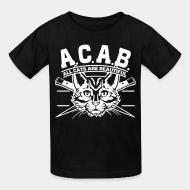 Children t-shirt A.C.A.B. all cats are beautifful