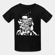 Children t-shirt protect respect animal right