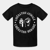 Children t-shirt lib�ration animal lib�ration humaine
