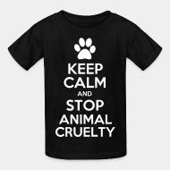 Kid tshirt Keep calm and stop animal crielty