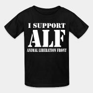 Children t-shirt I support Animal liberation front