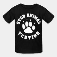 Children t-shirt Stop Animal testing