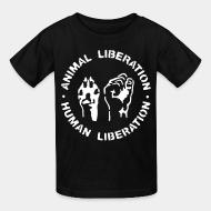 Children t-shirt Animal liberation Human liberation