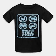 Children t-shirt meat free zone