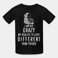 Kid tshirt I am not crazy different than yours
