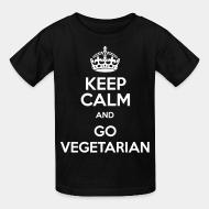 Kid tshirt keep calm and go vegetarian