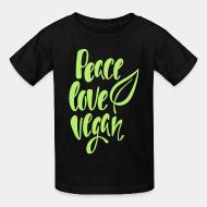 Kid tshirt peace love Vegan