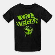 Children t-shirt Go vegan