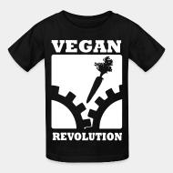 Kid tshirt Vegan revolution