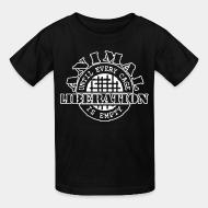 Children t-shirt Animal liberation until every cage is empty