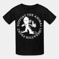 Kid tshirt support the animal liberation front