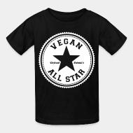 Children t-shirt Vegan all star defend animals