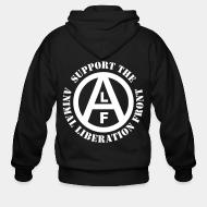 Zip hoodie Support animal liberation front