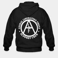 Zip hoodie animal liberation front support crew