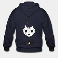 Zip hoodie All you need is love and a cat