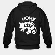 Zip hoodie Home is where my cat is