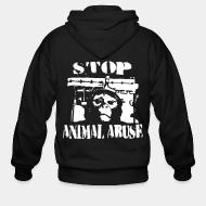 Zip hoodie stop animal abuse