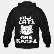 Zip hoodie all cats are beautiful