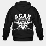 Zip hoodie A.C.A.B. all cats are beautifful