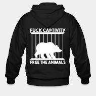 Zip hoodie fuck captivity freee the animals
