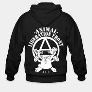 Zip hoodie Animal liberation front