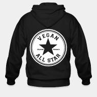 Zip hoodie Vegan all star defend animals