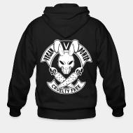 Zip hoodie Vegan power cruelty free