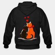 Zip hoodie Cat in love