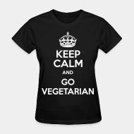 Women T-shirt keep calm and go vegetarian