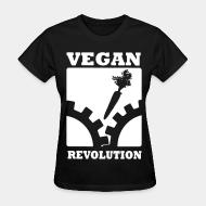Women T-shirt Vegan revolution