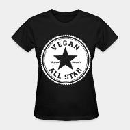 Women's t-shirt Vegan all star defend animals