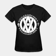 Women T-shirt Vegan anarchist