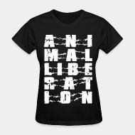 Women's t-shirt Animal liberation