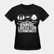 Women's t-shirt Animal liberation direct action