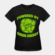 Women's t-shirt powered by green energy