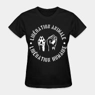 Women's t-shirt lib�ration animal lib�ration humaine