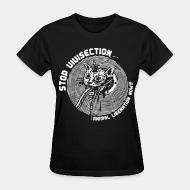 Women's t-shirt stop vivisection animal liberation now!