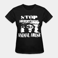 Women's t-shirt stop animal abuse