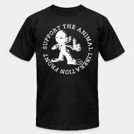 American Apparel t-shirt support the animal liberation front