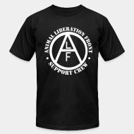 American Apparel t-shirt animal liberation front support crew