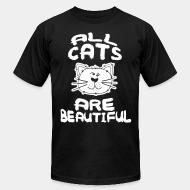 American Apparel t-shirt all cats are beautiful