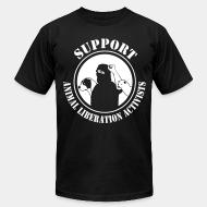 American Apparel t-shirt support animal liberation activists