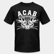 American Apparel t-shirt A.C.A.B. all cats are beautifful