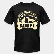 American Apparel t-shirt Don't shop adopt