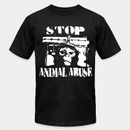 American Apparel t-shirt stop animal abuse
