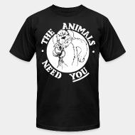 American Apparel t-shirt The animals need you