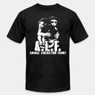 American Apparel t-shirt A.L.F animal liberation front