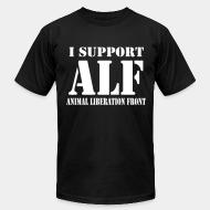 American Apparel t-shirt I support Animal liberation front