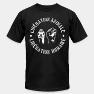 American Apparel t-shirt lib�ration animal lib�ration humaine